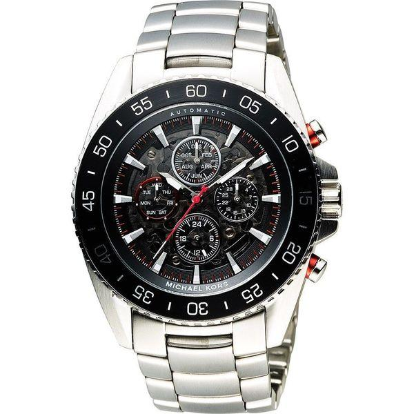 Michael Kors Men's Jet Master Automatic Multi-Function Skeletal Dial Stainless Steel Bracelet Watch
