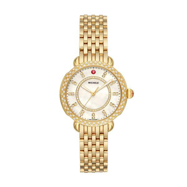 Michele Sidney Classic Gold Diamond Complete Watch