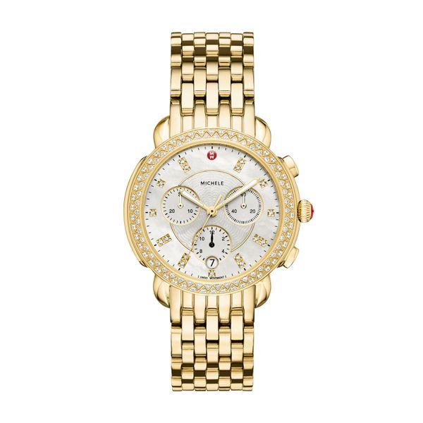 Michele Sidney Diamond Gold, Diamond Dial Complete Watch