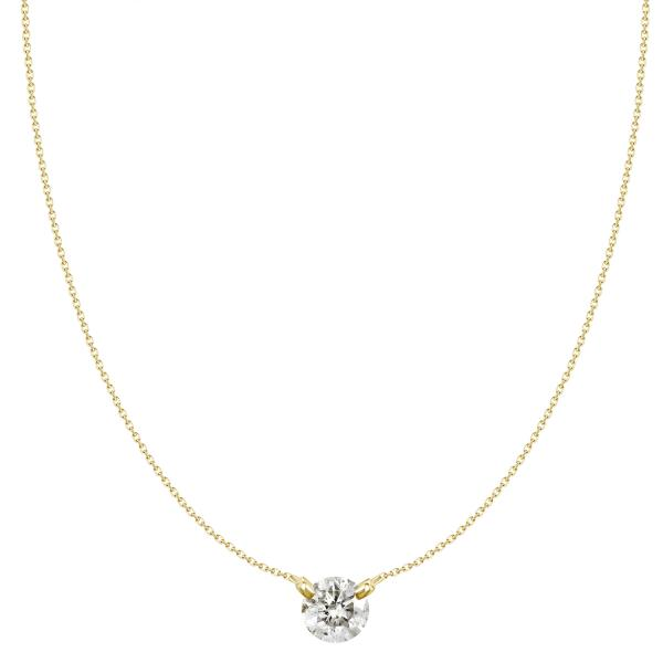 18K .20CT ROUND DIAMOND PENDANT NECKLACE
