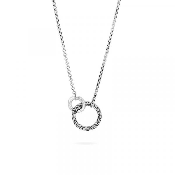 JOHN HARDY CLASSIC CHAIN HAMMERED SILVER 2MM INTERLINKING NECLACE