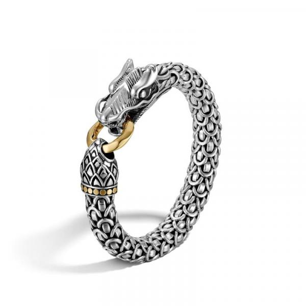 JOHN HARDY WOMEN'S LEGENDS NAGA GOLD & SILVER LARGE DRAGON BRACELET WITH GOLD RING