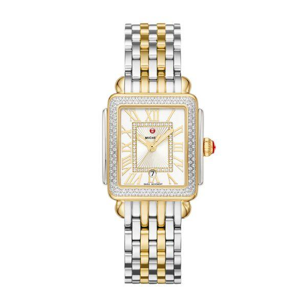 Michele Deco Madison Mid Two-Tone Diamond Complete Watch