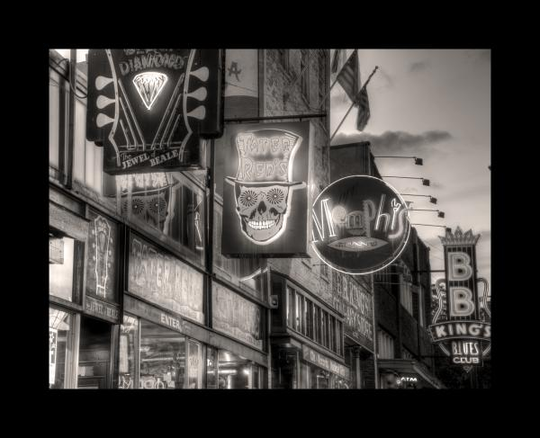 Beale Street in HDR 8x10