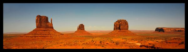 Panorama of Monument Valley 12x39