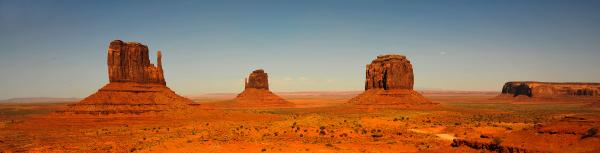 Panorama of Monument Valley 12x40