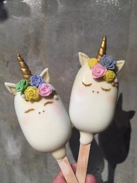 Unicorn Cake Popsicles