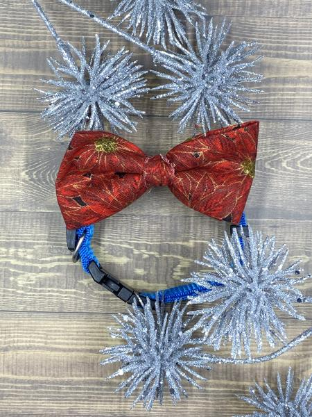 Poinsettia Dog Bowtie