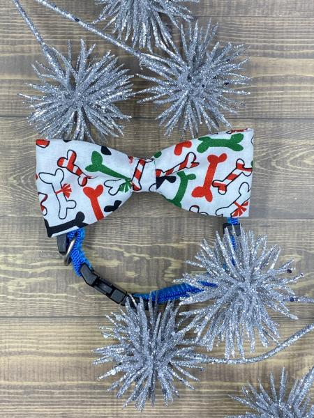 Christmas Dog Bone Dog Bowtie
