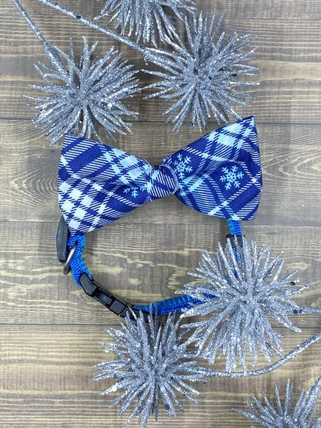 Winter Plaid Dog Bowtie
