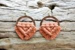 Terracotta Macrame Earrings