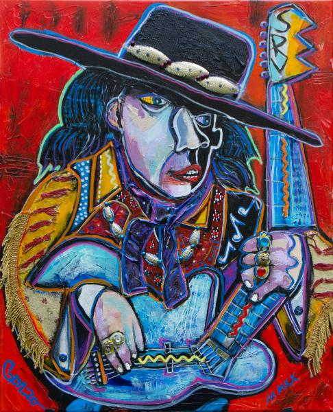 Tribute to SRV Painting