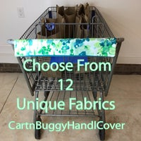 Shopping Cart/ Grocery Cart Handle Covers-Choose from 12 unique fabrics