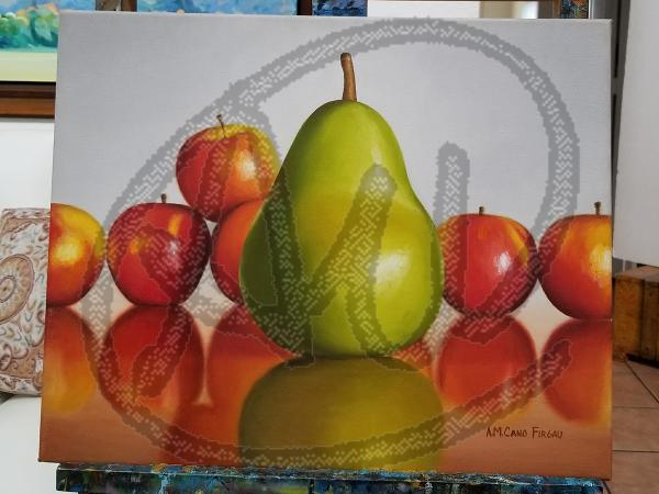 Pear reflection oil on canvas