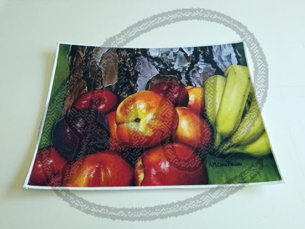Fruits on wood placemat
