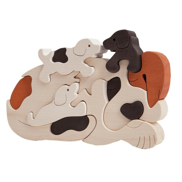 Dog Family Puzzle White