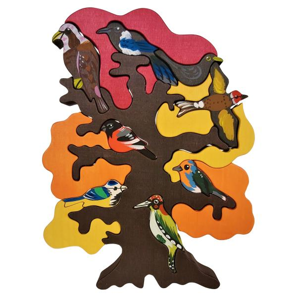 Fall European Bird Tree Puzzle