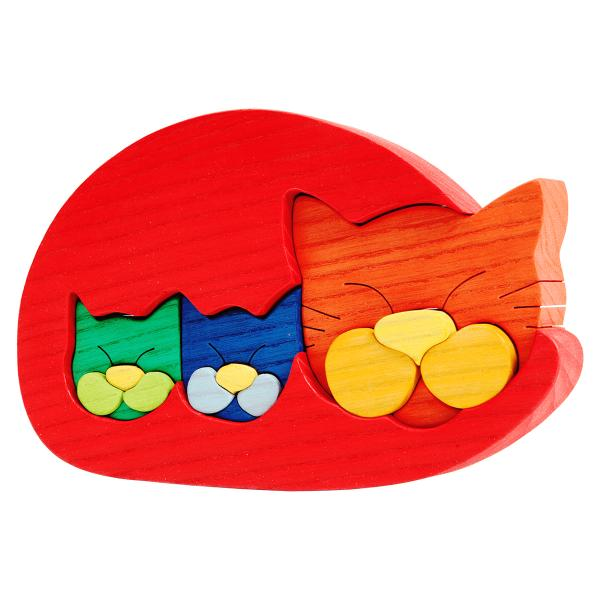 Cat Family Puzzle Red