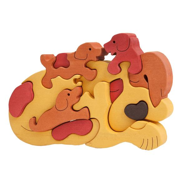 Dog Family Puzzle Gold