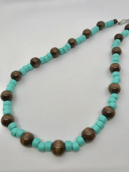 Wood & Teal Necklace picture