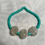 Blue/Iridescent Berry Bracelet