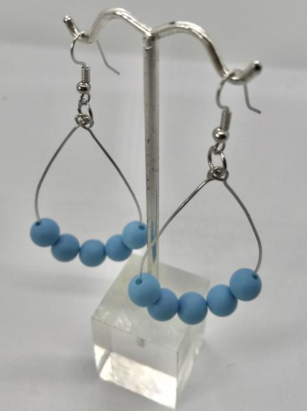 Blue Teardrop Dangly Earrings