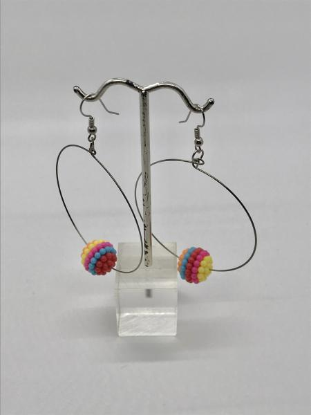 Colorful Berry Bead Hoops