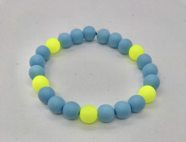 Neon Blue & Chartreuse Anklet picture