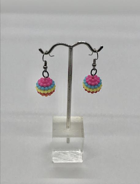 Colorful Berry/Blue Earrings