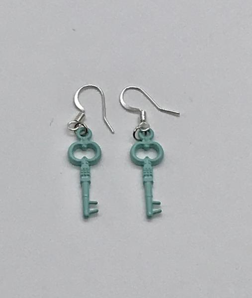 Blue key Earrings