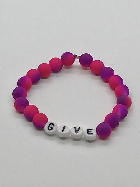 Neon Purple/Pink Name Bracelet