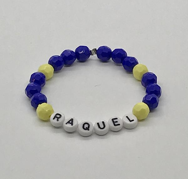 Blue/Green Name Bracelet