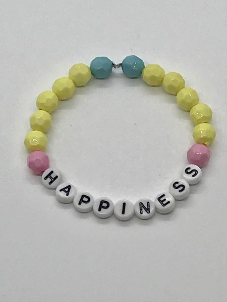 Yellow/Pink Name Bracelet