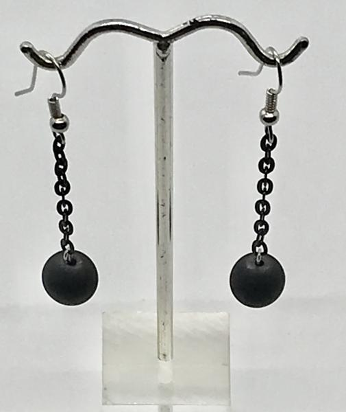 Matte Black/Chain Earrings