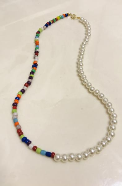 Pearl & Colorful Bead Necklace picture