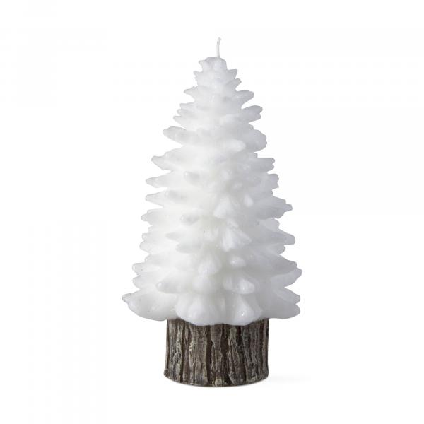 White spruce rustic tree candle, large picture