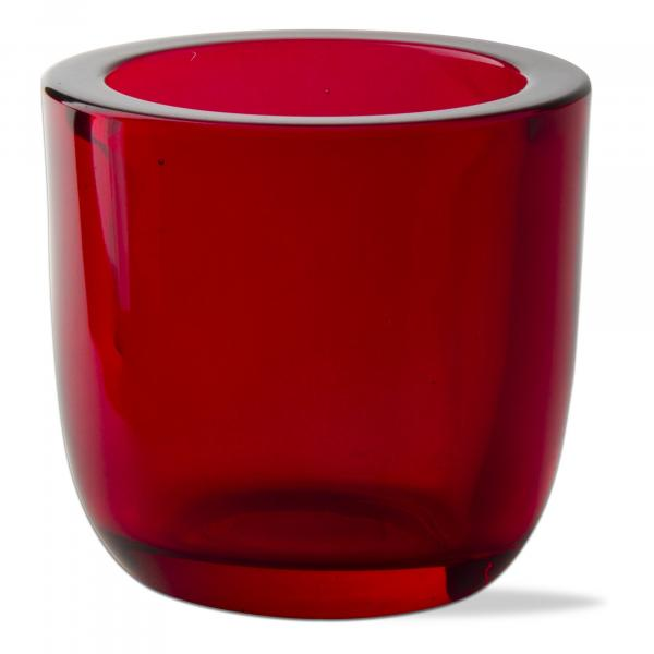 Red Glass Tealight Holder picture