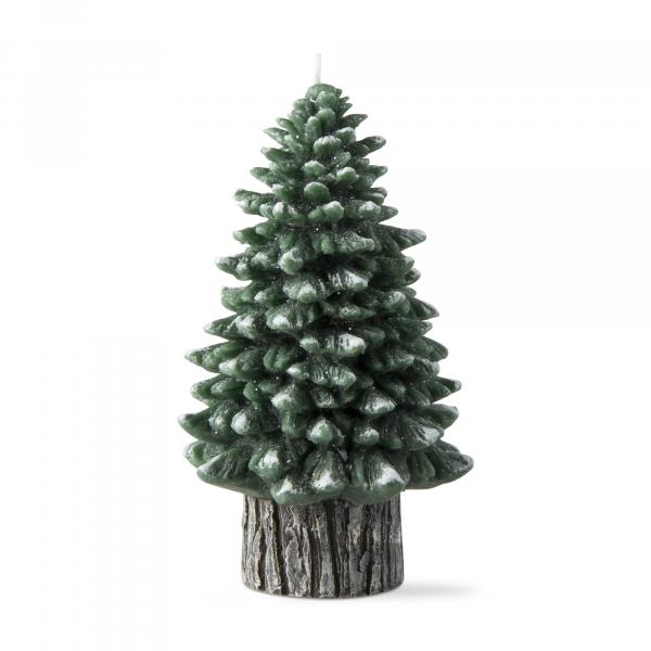 Spruce rustic tree candle, large picture