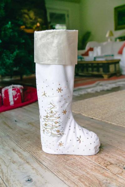 "24"" O' Shiny Tree Standing Stocking"