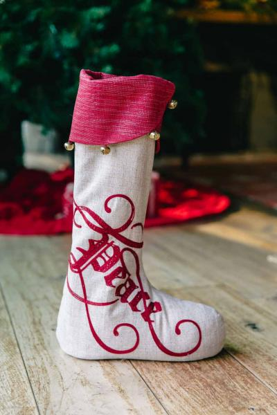 "30"" Peace on Earth (w/jingle Bells) Standing Stocking"