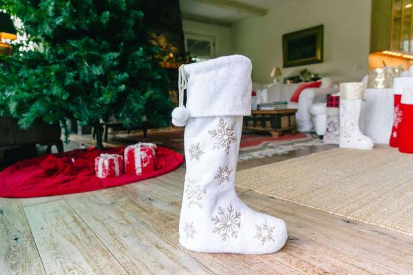 "30"" Snowy Days (w/LED Lights) Standing Stocking"