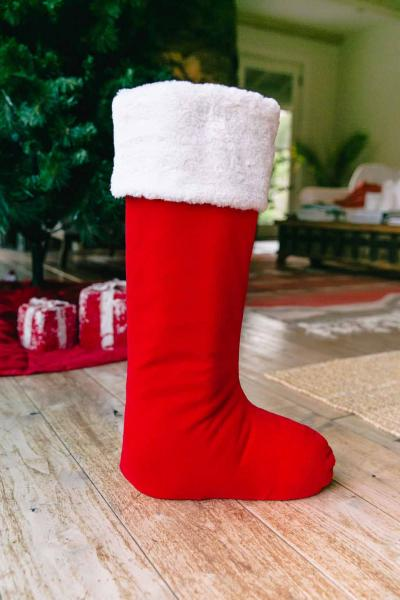"20"" Traditional Red & White Standing Stocking"