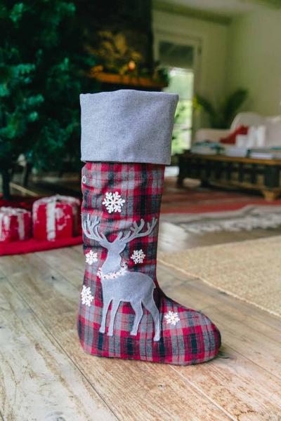 "20"" Deer in the Woods Standing Stocking"