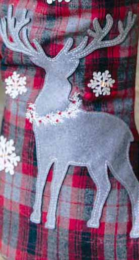 "30"" Deer in the Woods Standing Stocking picture"