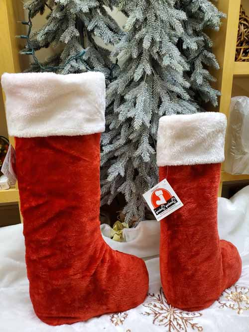 "30"" Traditional Red & White Standing Stocking"