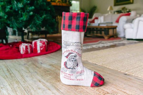 "24"" North Pole Delivery Standing Stocking"