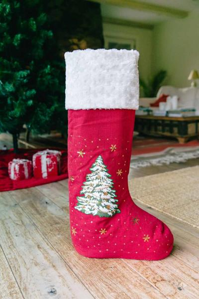 "30"" Tree of Gifts (w/LED Lights) Standing Stocking"