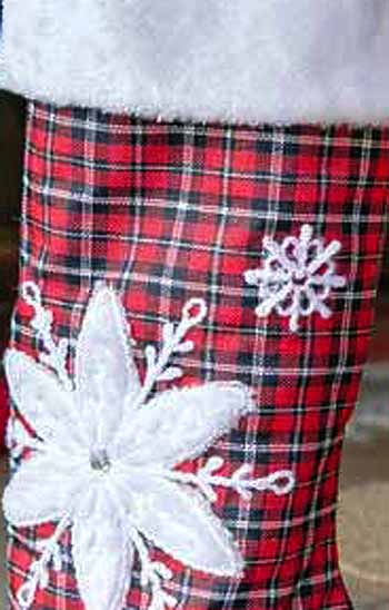 "30"" Plaid & Flakes Standing Stocking picture"