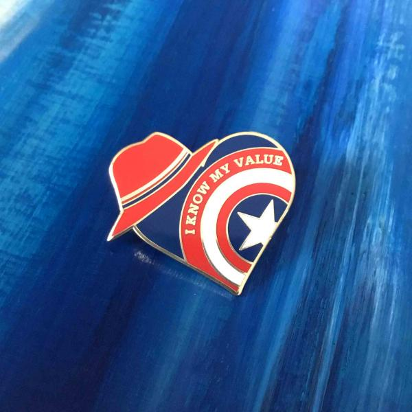 Agent Peggy Carter Enamel Pin - I Know My Value