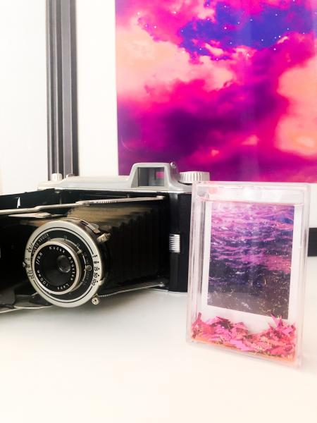 Polaroid Infrared Print- With Glitter Frame picture